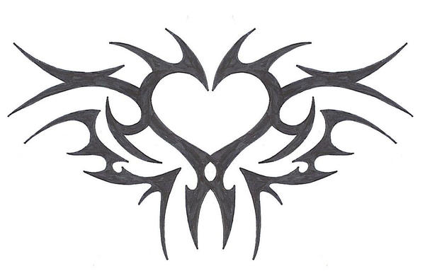 tribal heart by mybeautifulsickness on deviantart. Black Bedroom Furniture Sets. Home Design Ideas