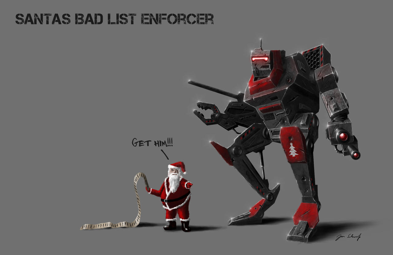 santas bad list enforcer by greensandsguy
