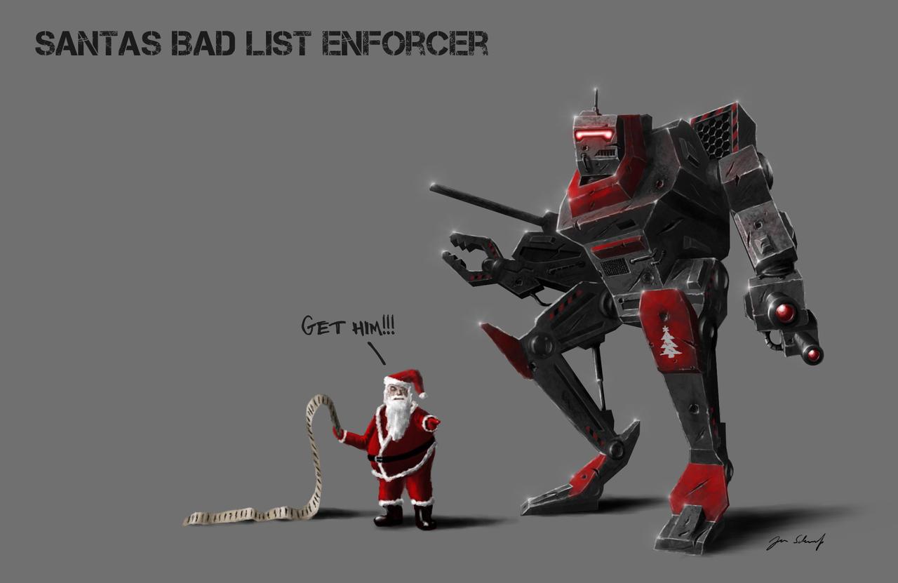 santas bad list enforcer by greensandsguy