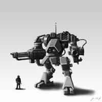 robot sketch 001 by greensandsguy