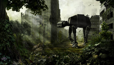 AT-AT in ruins by greensandsguy