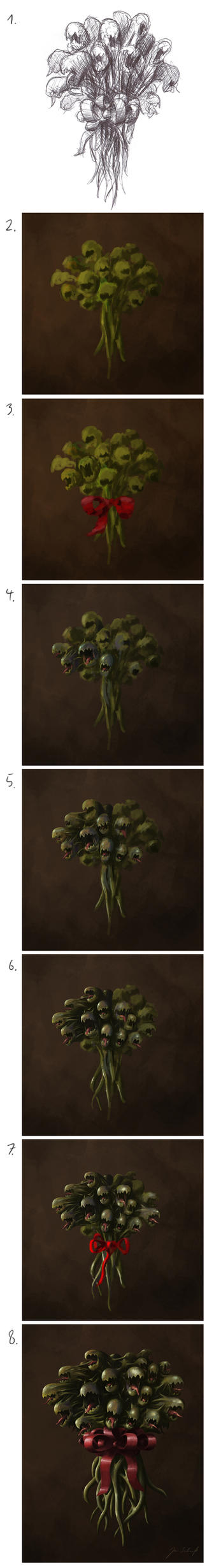 Birthday Bouquet Steps by greensandsguy
