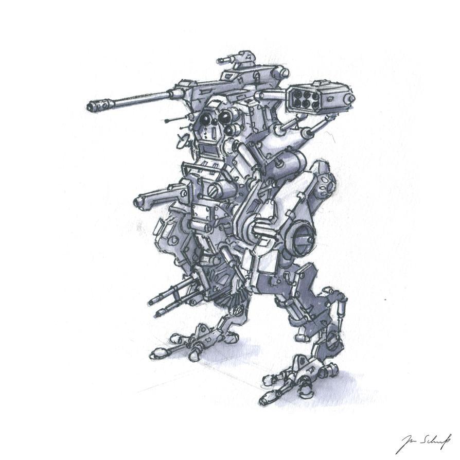 Robot sketch by greensandsguy