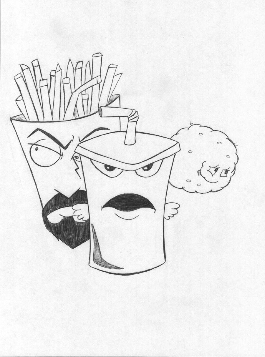 aqua teen hungerforce coloring pages - photo#8