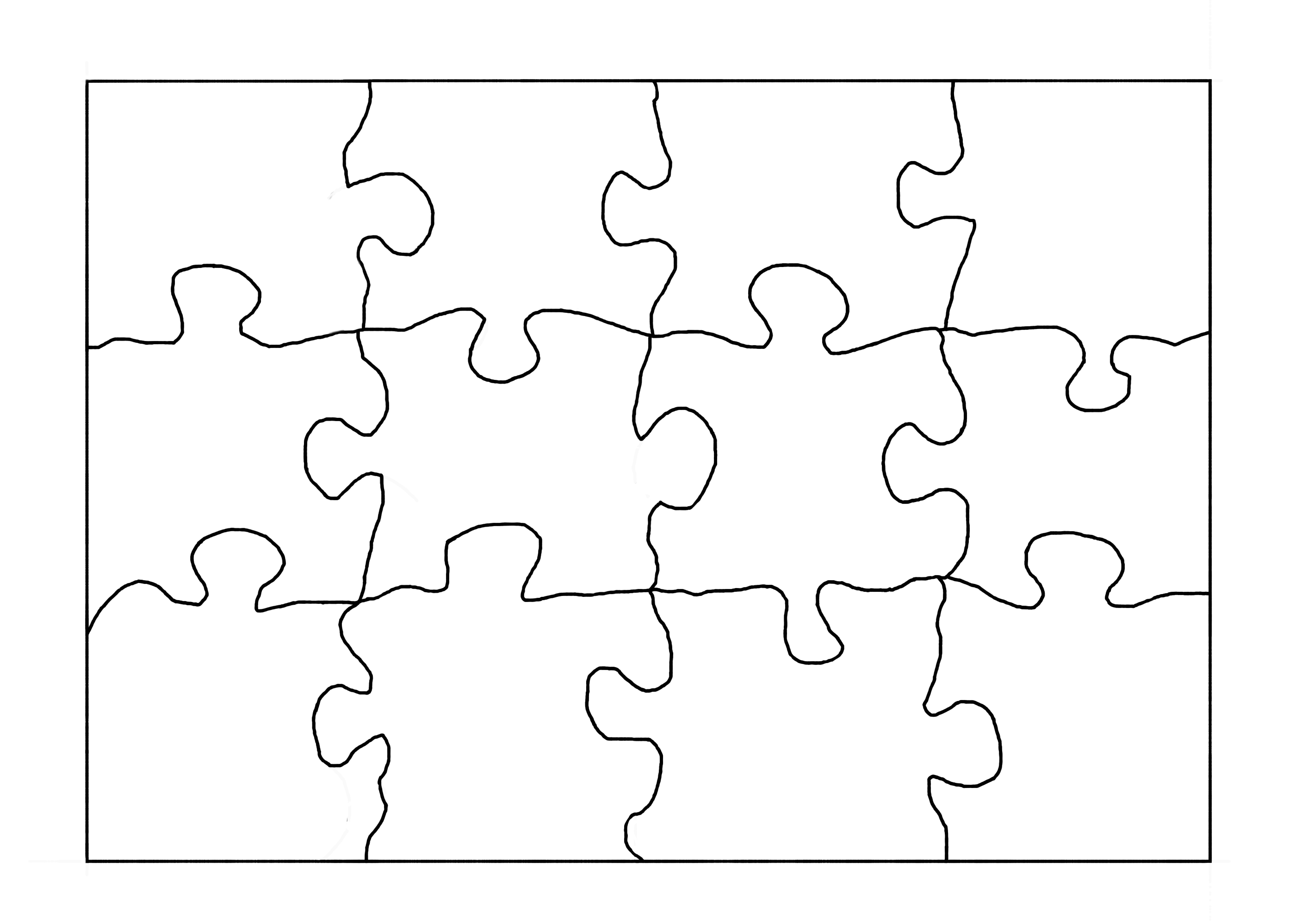 Massif image with printable blank puzzle