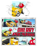 Cherry Pit Stop sign design