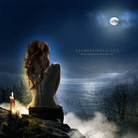Moonlight shadow by JacquelineLecocq
