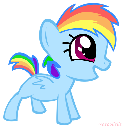 Baby Rainbow Dash Png Rainbow Dash Cute Baby Png by
