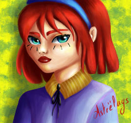 Little red head girl