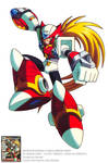 MEGAMAN X EX ARMOR ZERO OFFICIAL ARTWORK