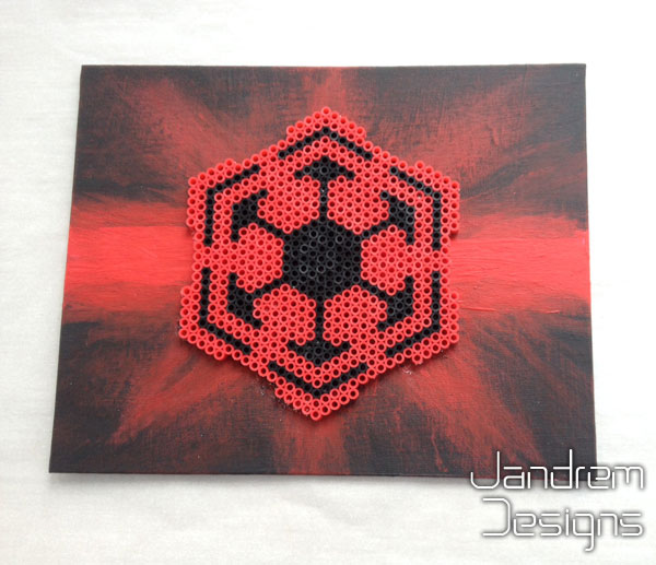 Sith Empire Symbol Bead Sprite On Canvas By Jandrem On Deviantart