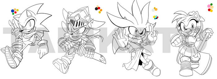 Sonic Dnd characters WIP 1