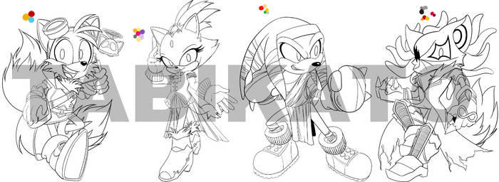 Sonic Dnd characters WIP 2