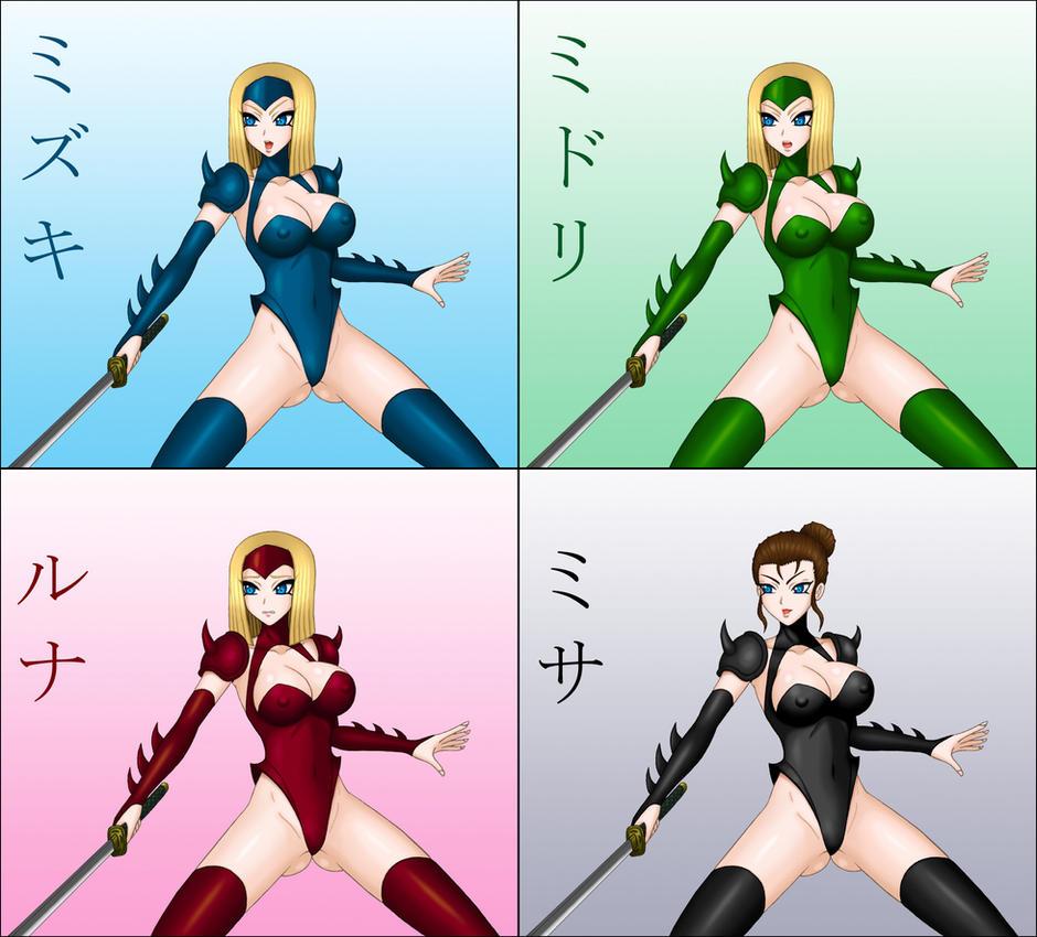 Mizuki 4 Sisters by moai666