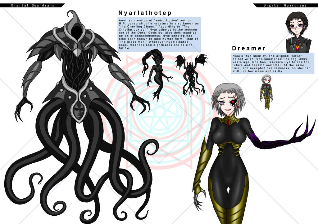 Nyarlathotep and Dreamer by moai666 on DeviantArt