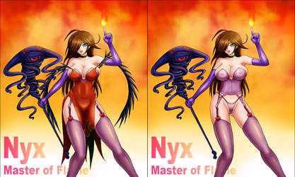 Nyx Master of Flame x2 by moai666
