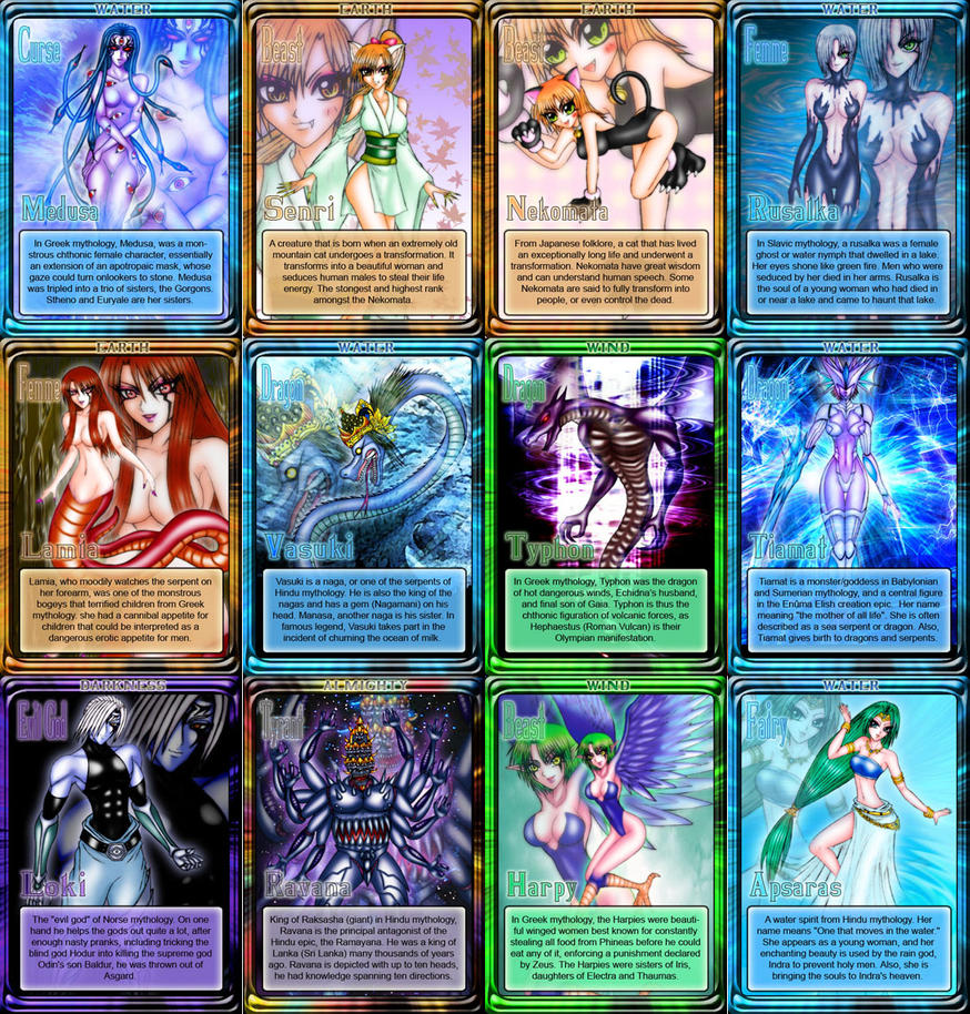 Mythology cards 3 by moai666