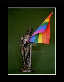 My Gay Pride Flag Sculpture