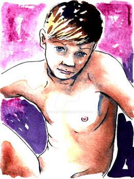 Male Nude. Self Portrait