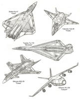 Futuristic Russian Aircraft by Kryptid