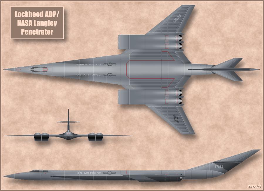 Lockheed Hypersonic Study 2 by Kryptid