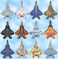 F-22 Raptor Paint Jobs by Kryptid