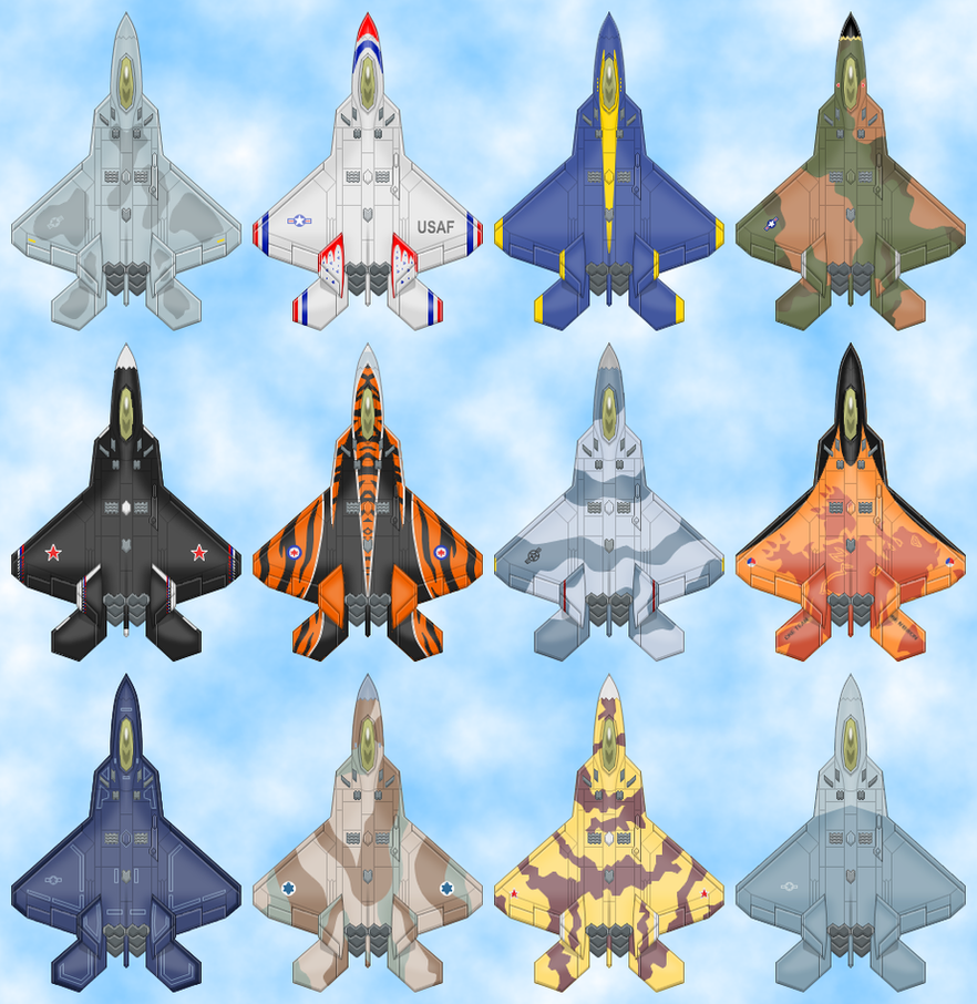 F-22 Raptor Paint Jobs by Kryptid