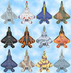 F-22 Raptor Paint Jobs