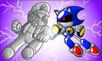 Metal Mario vs Metal Sonic