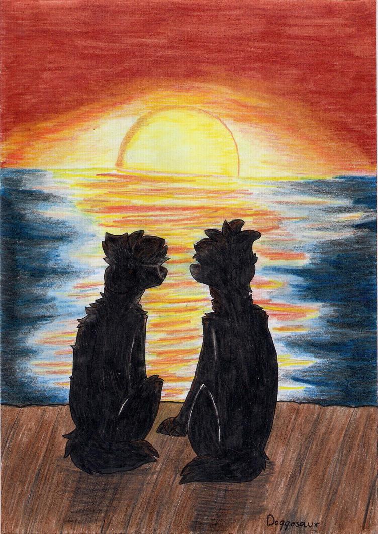 At sunset by Doggosaur