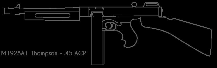 One Line Art Gun : M a thomson submachine gun by bcmatsuyama on deviantart