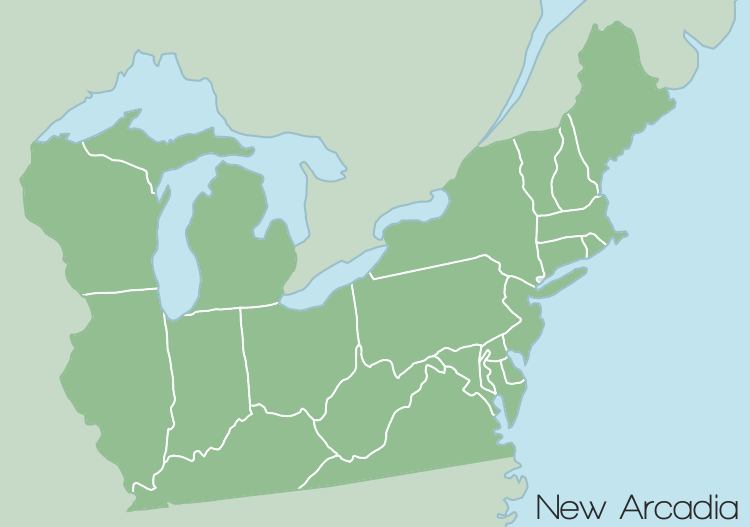 Northeastern United States Map by BCMatsuyama on DeviantArt