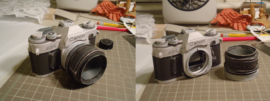 Canon AE-1 Papercraft by Jophish126
