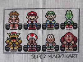 Super Mario Kart Cross Stitch by DawnMLC