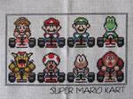 Super Mario Kart Cross Stitch