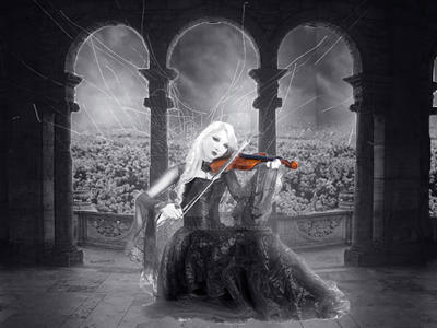 The music of a violon by MissCrapouille