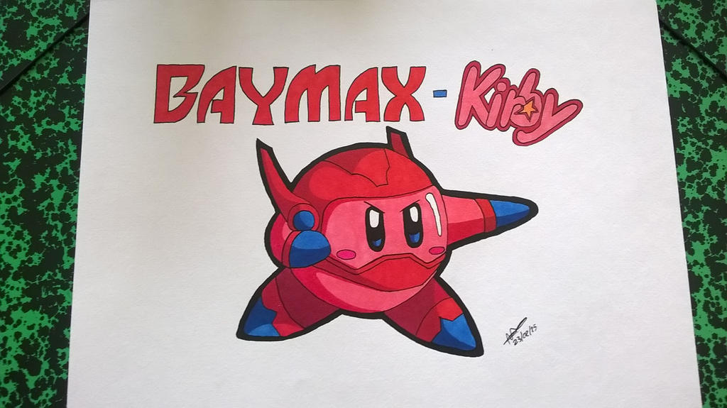 fan art baymax - kirby by lisaru38