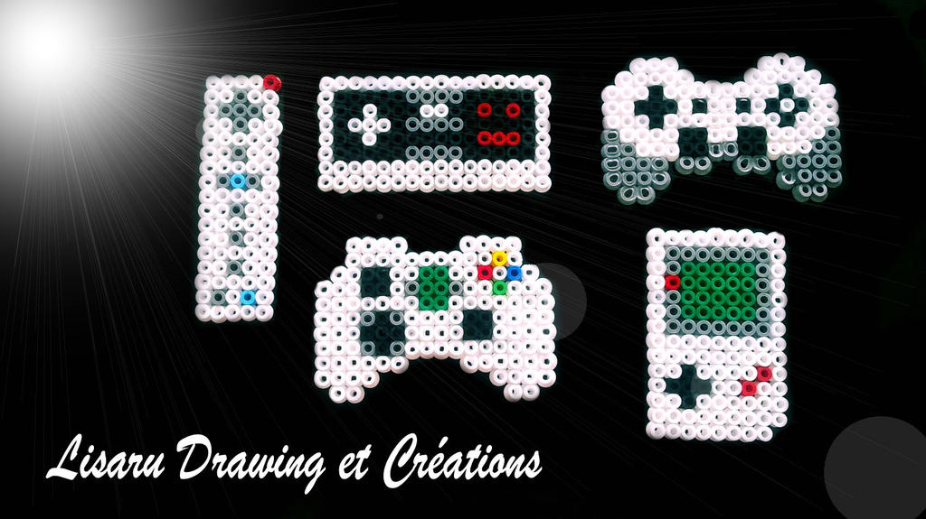 manette de jeux videos en perle hama 5 mm by lisaru38