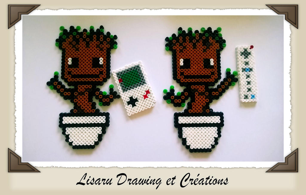 hama - bebe groots avec manette de jeux video - by lisaru38