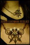 Amber Clockwork Necklace