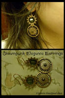 Steampunk Elegance Earring Set by JynxsBox