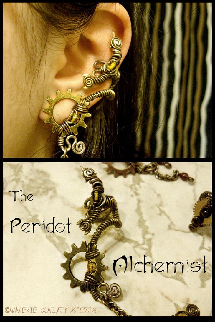 Peridot Alchemist Ear Cuff by JynxsBox