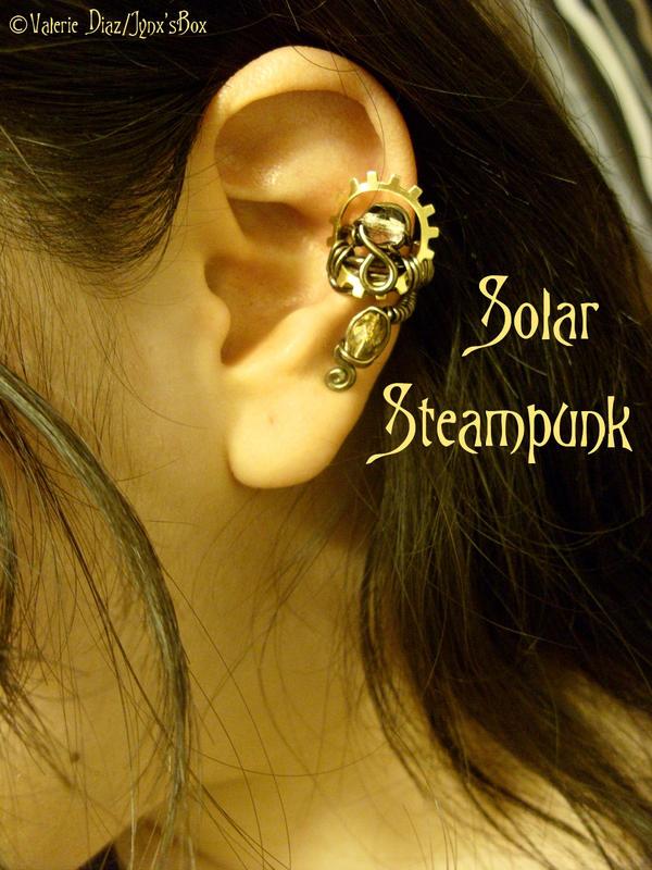 Solar Steampunk Ear Cuff by JynxsBox