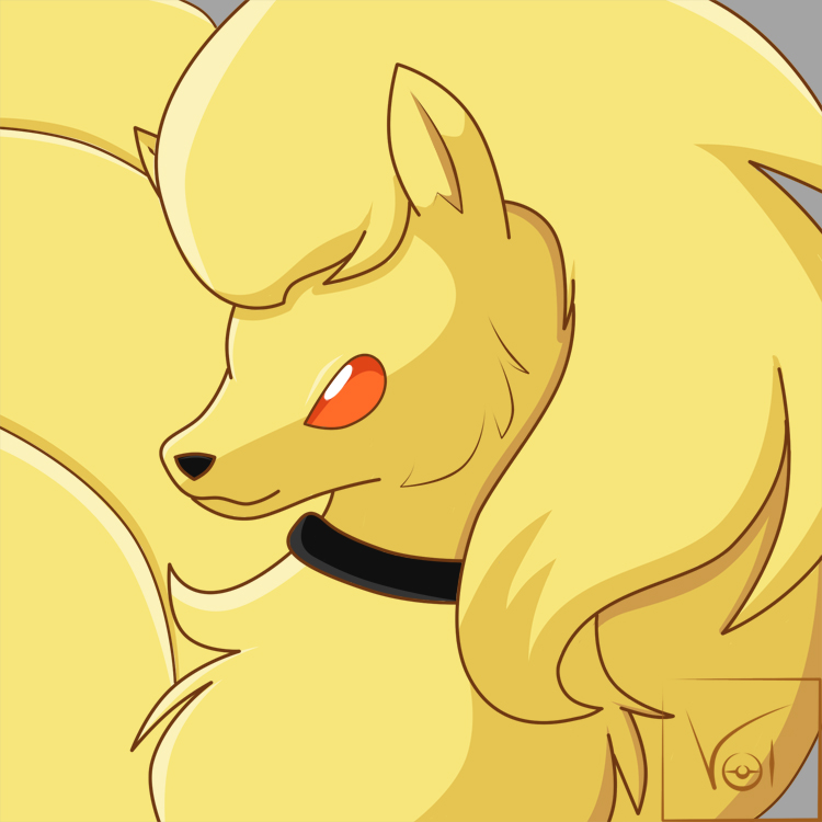 .:Art Trade: Flare Ninetales:. by Volmise