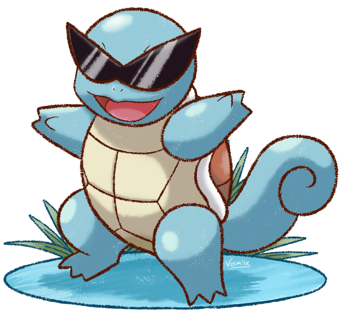 Squirtle With Glasses 15
