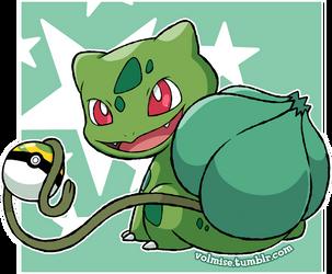 Pokemon Day: Shiny Bulbasaur by Volmise
