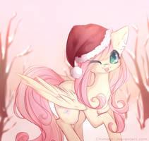 Christmas Fluttershy by Chimeeri