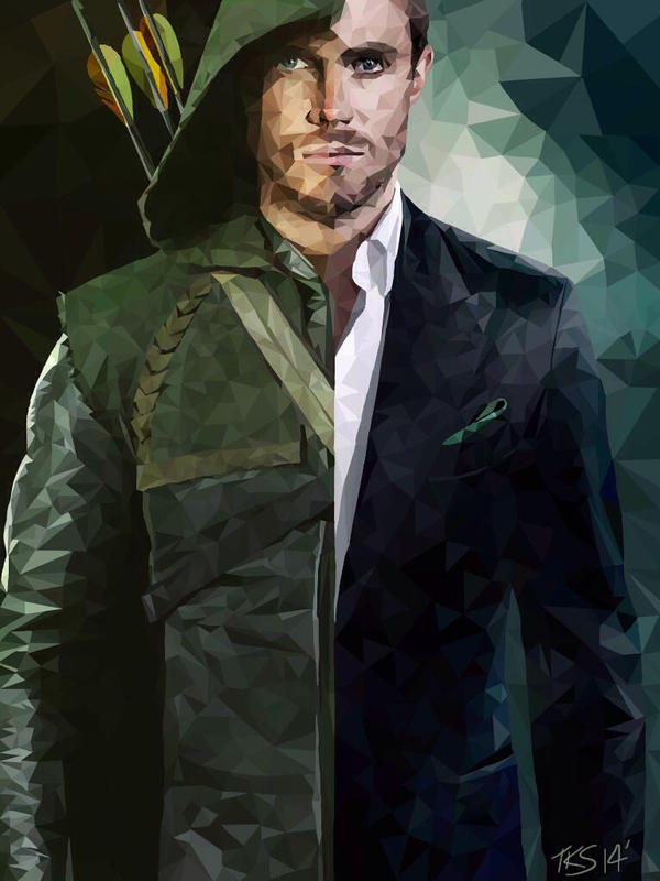 Stephen Amell - Oliver Queen/ Arrow - Polygonal by thekirstyshow