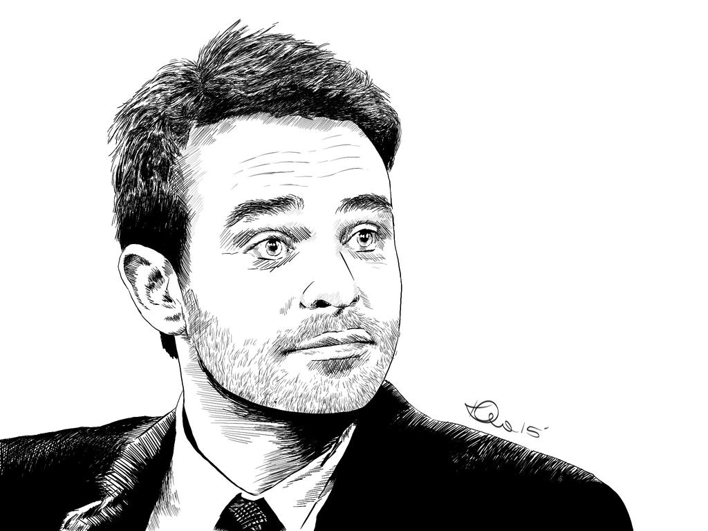 Digital Drawing - Charlie Cox by thekirstyshow