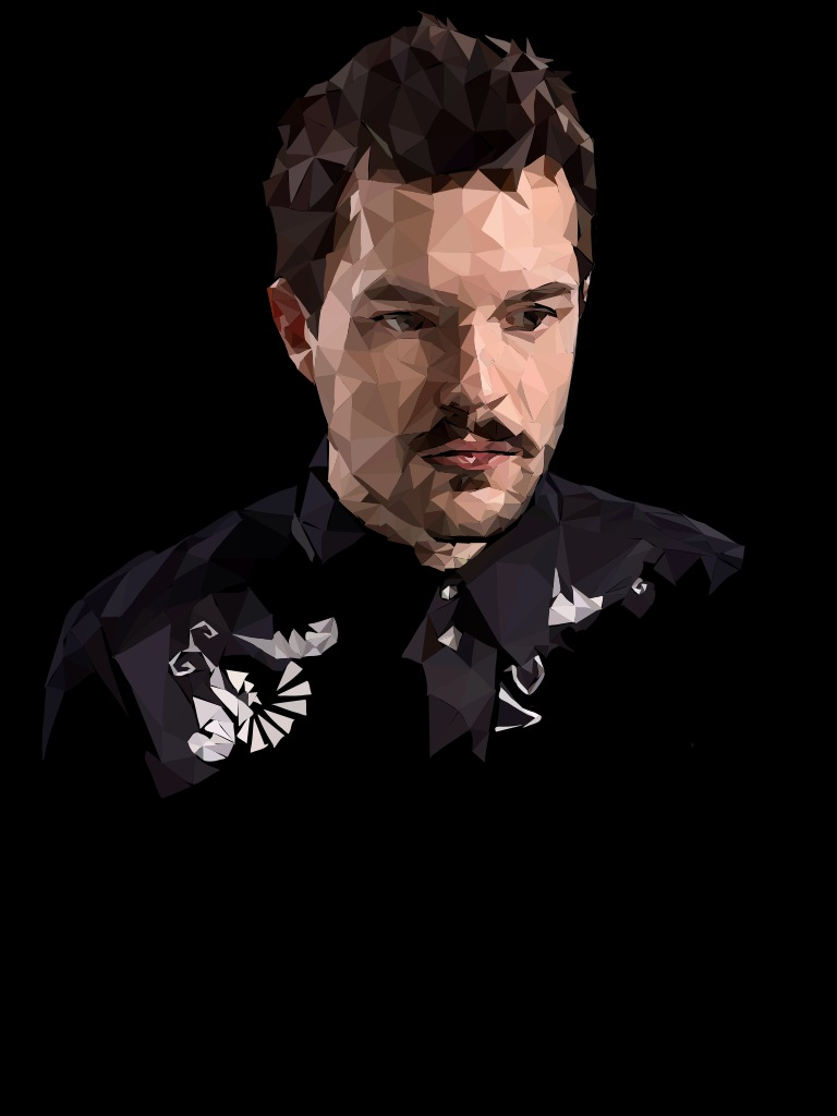 Brandon Flowers - Digital Drawing - Polygonal by thekirstyshow